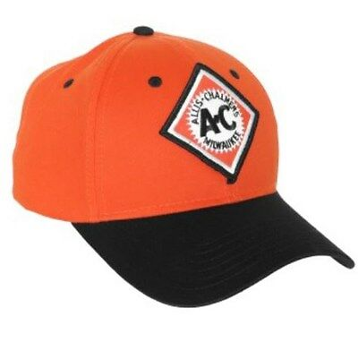 Allis Chalmers Orange and Black Hat Vintage Logo Cap Gift