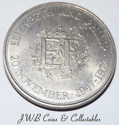 1972 Queen Elizabeth II & Philip Silver Wedding Commemorative Crown Coin