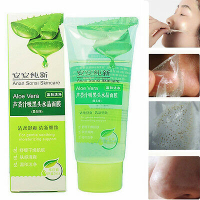Aloe Vera Blackhead Removal Acne Cleaner Deep Cleaning Peel Off Face Mask 100g #