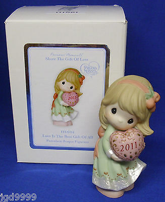 Precious Moments Porcelain Figurine Love is the Best Gift of All 2011 Girl Heart