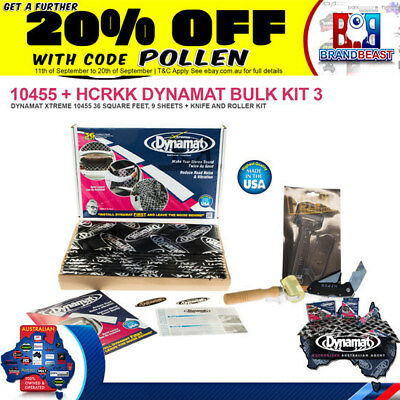 Dynamat Xtreme 9 Sheet Bulk Pack 10455 Extreme Car Audio + Roller Knife Combo