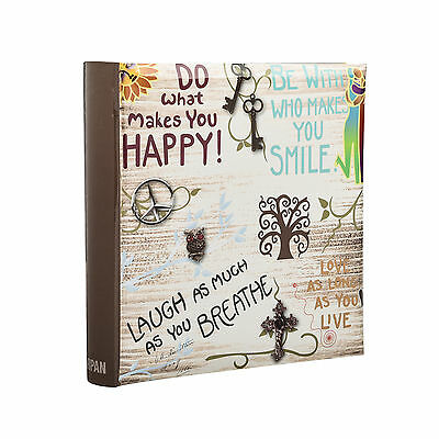 Large inspirational Slogans Slip in Memo Photo Album for 200 Photos 4' x 6-DH200