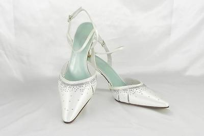 AUTHENTIC Fifi by Filippa Scott Nicole White Bridal Shoes RETURN POLICY