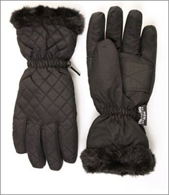 Hawkins GL41 ladies womens waterproof faux fur cuffed warm winter glove gloves