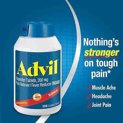 Advil Ibuprofen Tablets, 200 mg Pain Reliever Fever Reducer (NSAID) 360 Tablets