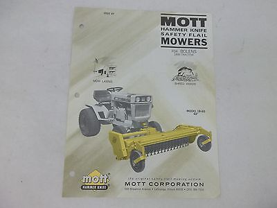 Mott Flail Mower Parts Manual