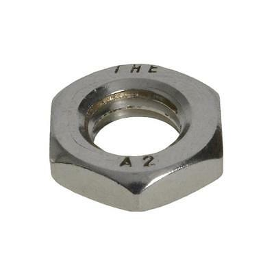 Qty 100 Hex Lock Nut M10 (10mm) Metric Stainless SS 304 A2 70 Thin Half Jam