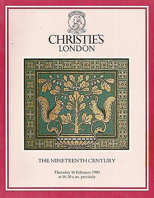 Christie`s Catalogue The 19Th Century  1989