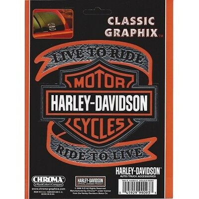 Harley-Davidson - Live to Ride with Bar & Shield - Classic Graphix free shipping