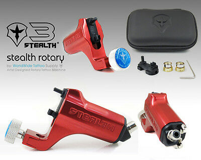 STEALTH GEN 3.0 Aluminum Rotary Tattoo Machine Liner Shader Supply Ink (RED)