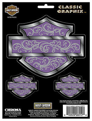 Officially Licensed Harley-Davidson Silhouette in Purple Rear-adhesive decal