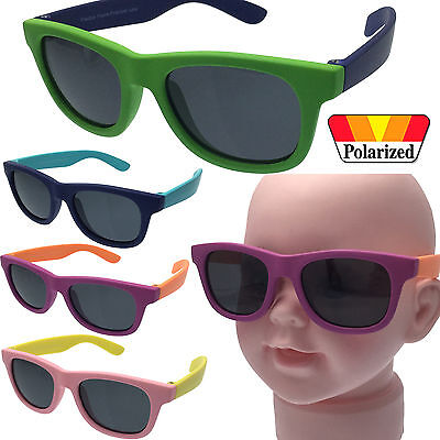 Polarized Baby Infant Sunglasses Vintage Retro Fashion Kids 0-12 Months