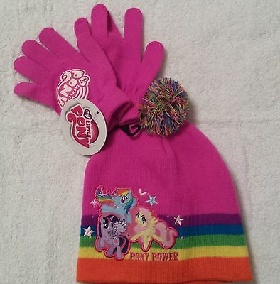 MY LITTLE PONY Winter Hat Beanie   Gloves Girls One Size ~ NWT ... 0a3728ab7d0