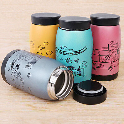250ml Stainless Steel Vacuum Cup Flask Thermos Travel Coffee Insulated Mug New
