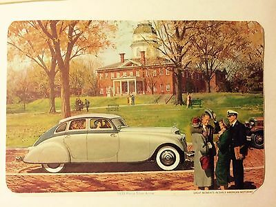 Vintage Great Moments in Early American Motoring Prints Lot 6