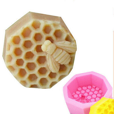 Bee Silicone Cake Soap Craft Fondant Mold Handmade Candle Pastry Baking Mould QW
