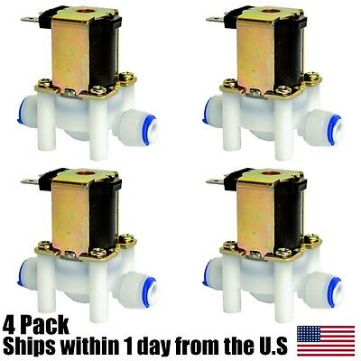 "1/4"" 24VAC Electric Solenoid Valve with Push-In Connectors, N/C, 24-Volt AC 4pk"