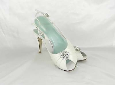 AUTHENTIC Fifi by Filippa Scott London Maisie Bridal Shoes Size 10 1/2 White NEW
