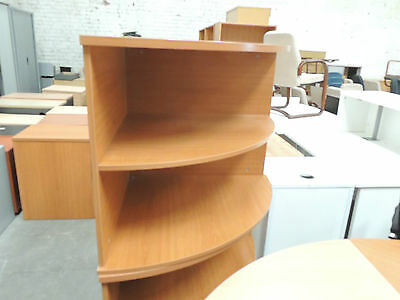 Desk High Corner Storage in Cherry