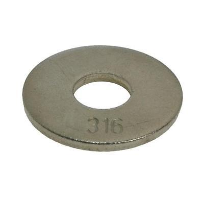 Qty 20 Mudguard Washer M6 (6mm) x 18mm x 1.6mm Marine Stainless 316 A4 Penny