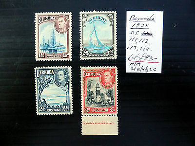 BERMUDA 1938 G.VI (4) As Described NEW LOWER PRICE FP4705