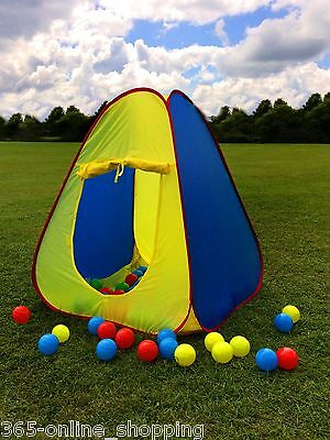 Kids Pop Up Play Tent Pit  Playhouse Wendy House Indoor Garden Baby Ball Pit New