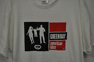Green Day American Idiot 2004 Tour T Shirt White Large