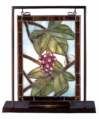 Tabletop Window Stained Glass Lighted Mini Nappa Vintage Meyda 68352 9.5 X 10.5