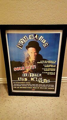 Tom Waits Glitter And Doom Sold Out 2008 U.S. Tour Promo Poster Framed!