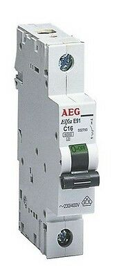 NEW GermanAEG 1 Pole MCB Miniature Circuit Breaker 6KA 10/16/20A C Curve EU Made