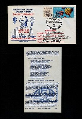 May 27 1985 Ameripex Balloon Mail Carried on the Big Max to 2910 feet - SIGNED