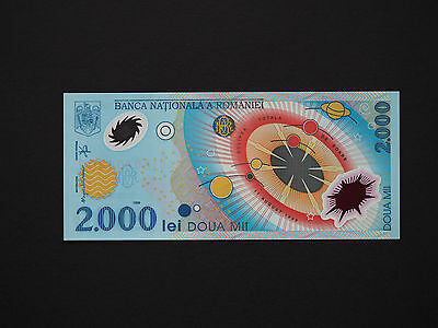 Romania Banknotes   -  2000 Lei Eclipse Note  !!!    *  Gem Unc Polymer  *