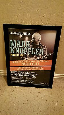 Mark Knopfler Royal Albert Hall Rare Sold Out Concert Promo Poster!