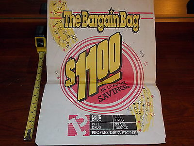Peoples Drugstore Bargain Bag Grocery Store Coupons 1988 Advertisment Rare Old