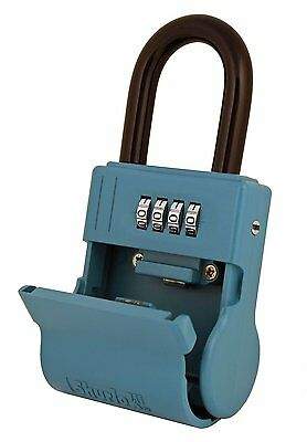 ShurLok SL-600W 4 Dial Numbered Key Storage Combination Lock (Color Name: Blue)