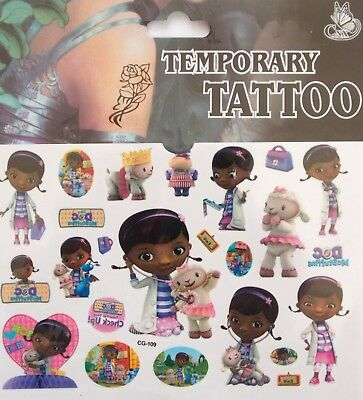 """Dr McStuffins"" Cartoon Temporary Body Tattoo Children's - CG-109"