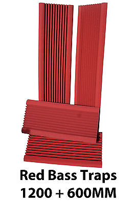4 RED Pro Acoustic Foam (1200mm+600mm) Bass Traps Sound Treatment