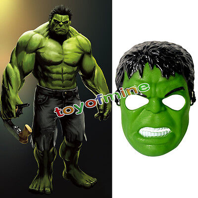 The Hulk Avengers Age of Marvel Official Single Card Party Face Mask