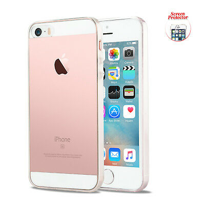 Ultra Clear Crystal Transparent Soft Gel Cover Case for Apple iPhone SE 5 5S