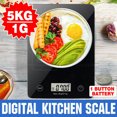 5KG Digital Kitchen Food Scale Electronic Weight Postal Fruit Meat FREE Gift