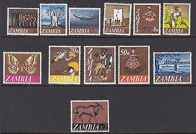 ZAMBIA:1968 Decimal definitive set SG 129-40 MNH