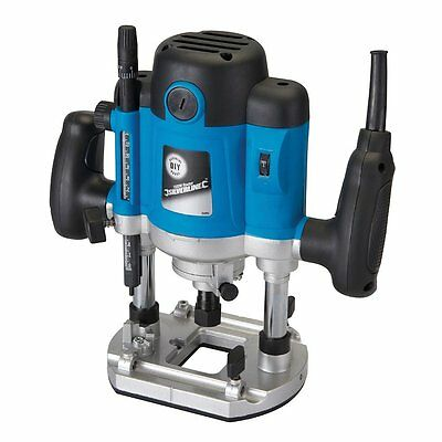 """1500W 1/2"""" Inch Heavy Duty Plunge Router Cutter Electric 240V By Silverline"""