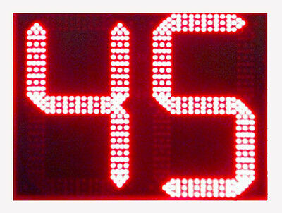 """Sports Radar DL1811 Red LED Display with Two 18"""" Digits"""