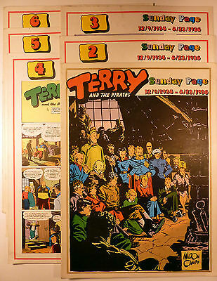 Terry and the pirates Caniff Série complète de 6 volumes Ed. Comic Art TBE