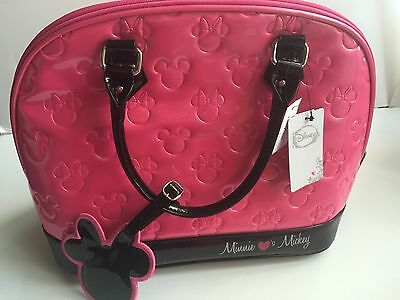 Disney Loungefly Satchel Minnie Loves Mickey Magenta Bag New with Tags