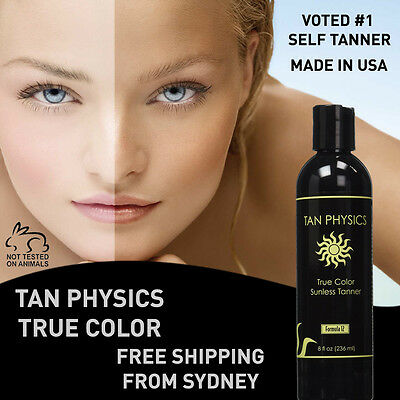 TAN PHYSICS True Colour Sunless Tanning Lotion Formula 12 - Fake Tan Australia
