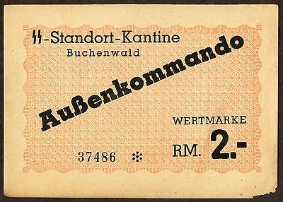 Germany, Concentration Camp Money, Buchenwald, 2 Rm, Holocaust
