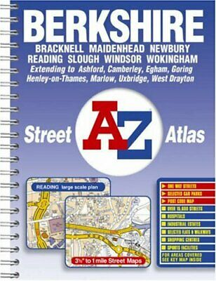 Berkshire Street Atlas by Geographers A-Z Map Company Spiral bound Book The