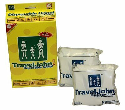 TravelJohn-Disposable Urinal (6 pack) by Travel John [66911] BRAND NEW