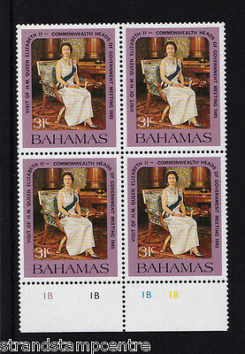 Bahamas - 1985 Heads of Government - 31c INVERTED WMK - U/M - Block of 4 -SG718w